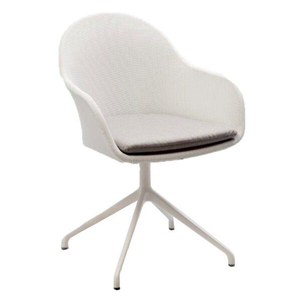 white aluminum armchair