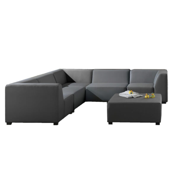 dark gray silvertex outdoor sofa