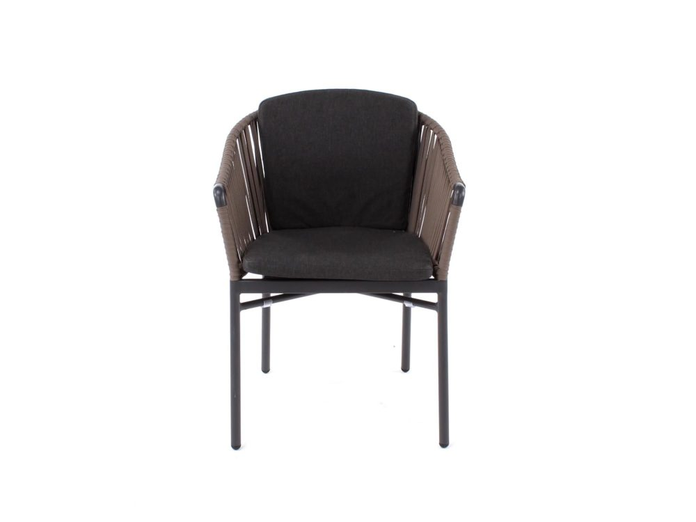 clavo cord outdoor dining chair front