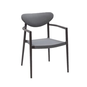 ibiza black outdoor dining chair
