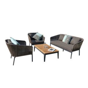clavo rope frame sofa set outdoor