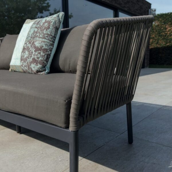 clavo outdoor sofa detail gray