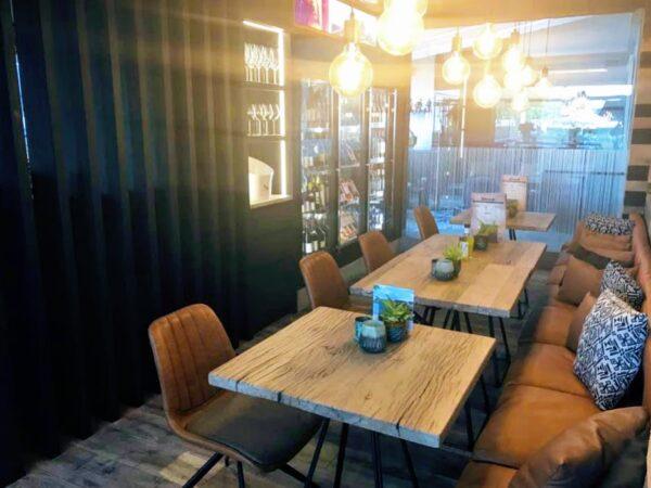 annex modena faux leather restaurant chair