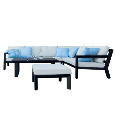 chiki black gray outdoor sectional