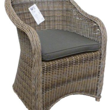darwin wicker outdoor chair brown gray
