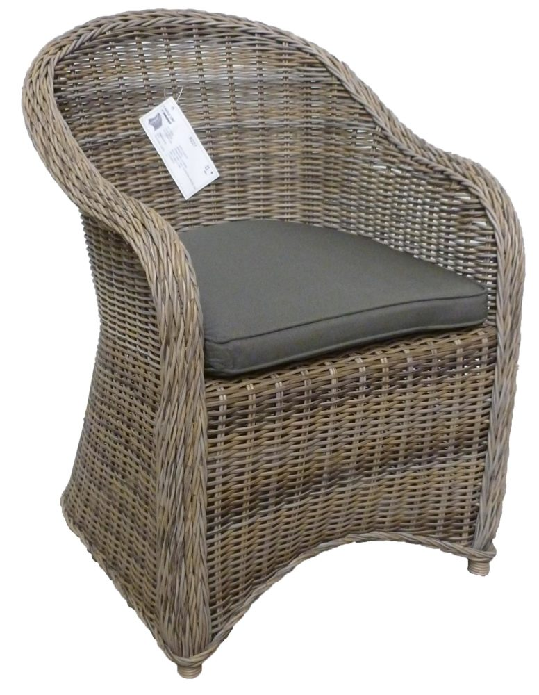 Gray Wicker Armchair Darwin Garden Furniture Home Couture Miami