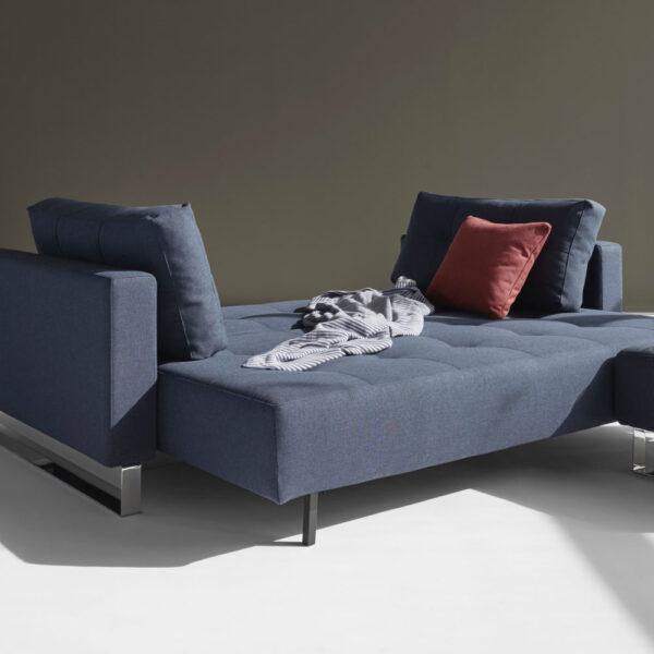 cassius dark blue sofa bed