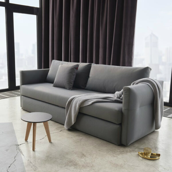 gray pop out sleeper sofa