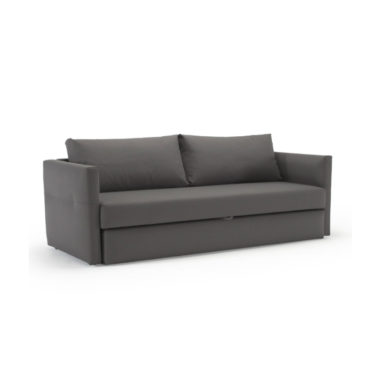 gray pop up sofa bed folded