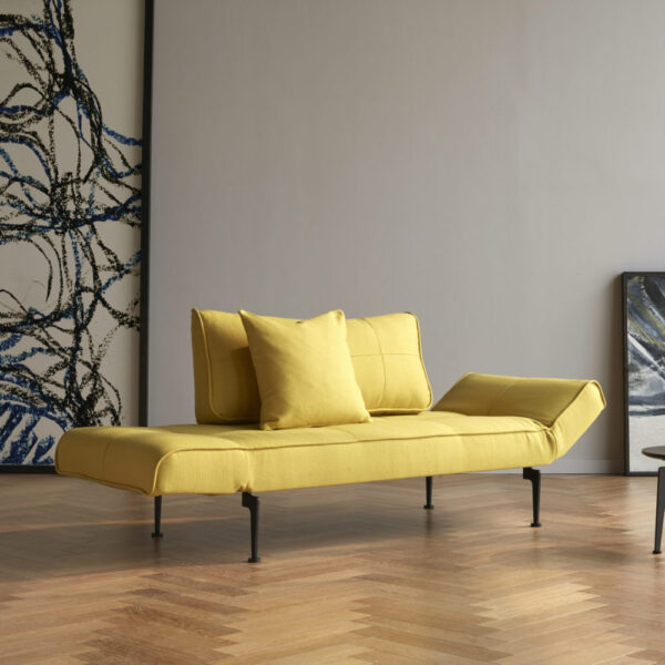 mustard yellow upholstered daybed