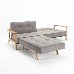 wood gray sectional sofa bed footstool chair