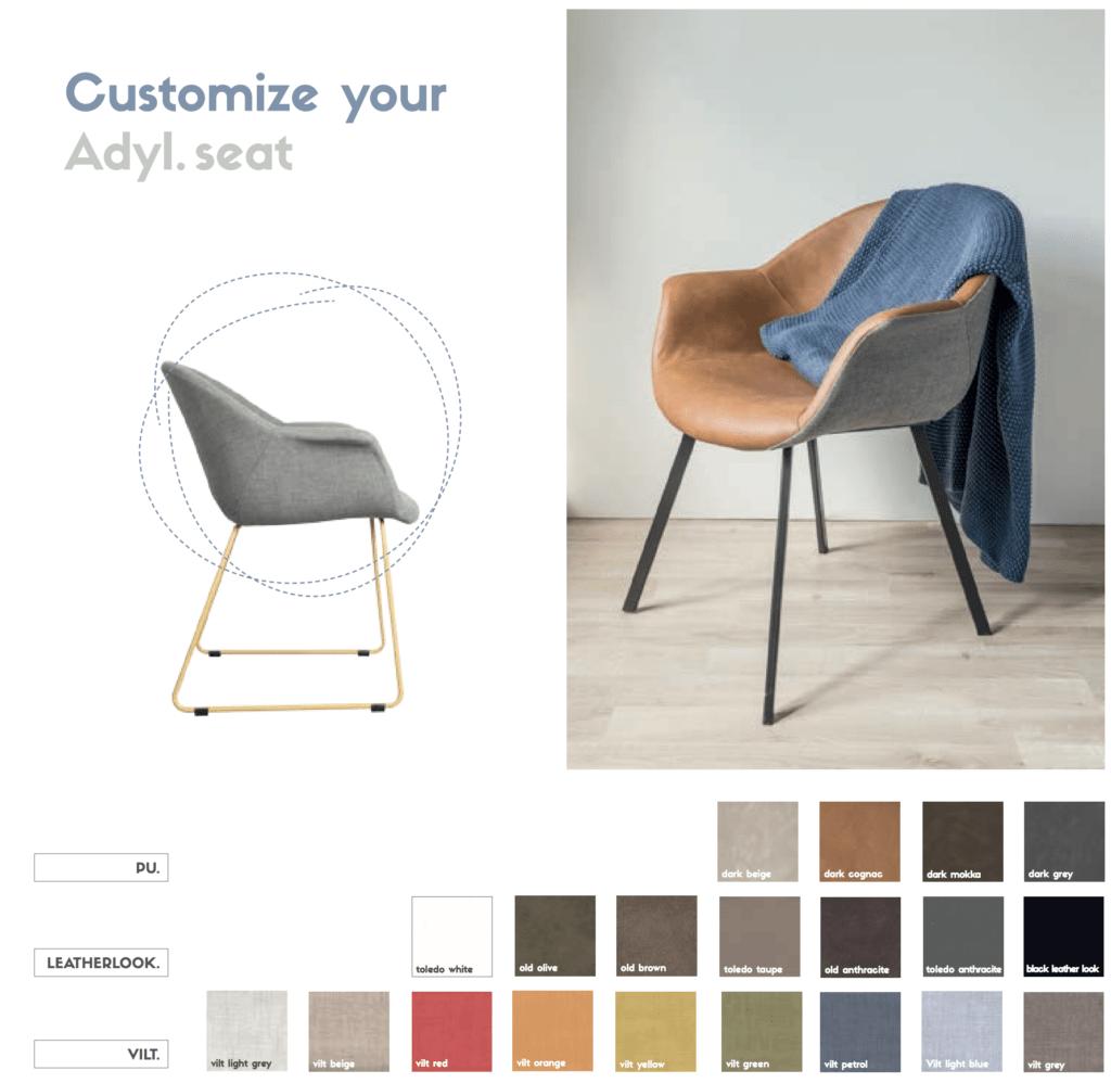 adyl customize wood vilt armchair