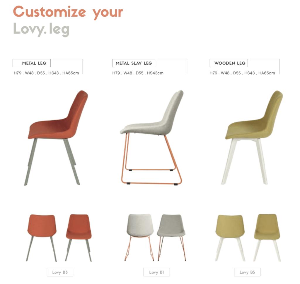 customizable dining chair metal sleigh wooden legs