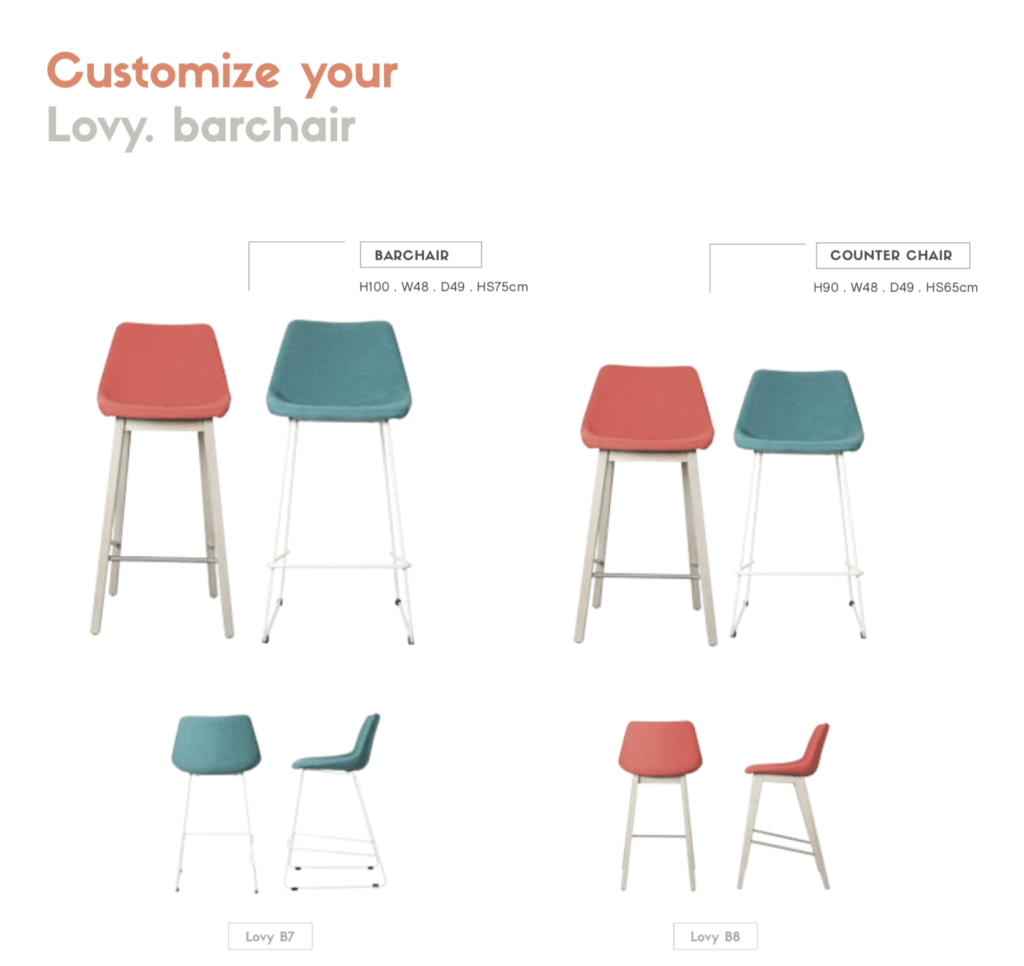 customizable bar chair counter chair