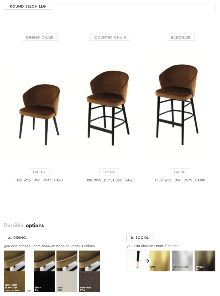lot chair options