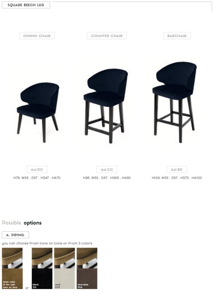 customizable axl chair