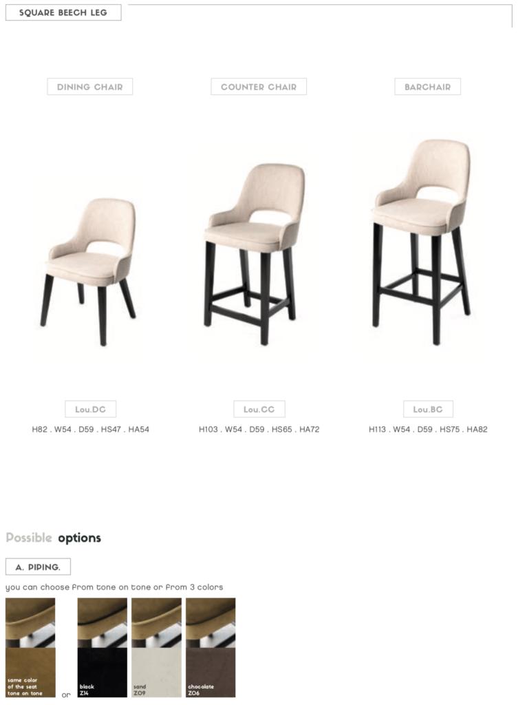 lou cutout back chair