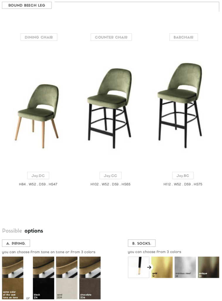uniq joy armless cutout dining chair