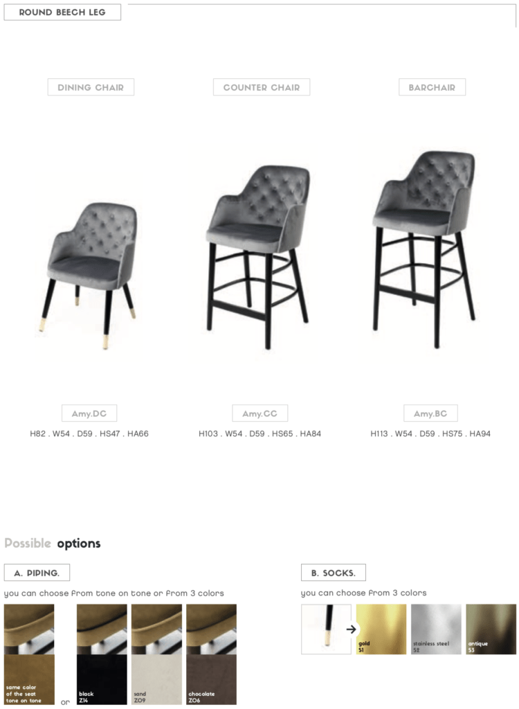 amy customizable tufted chairs