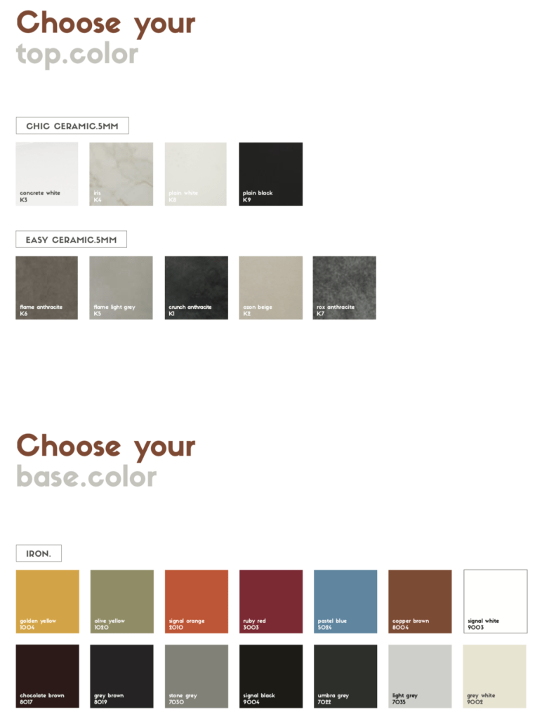 spisa dining table colors