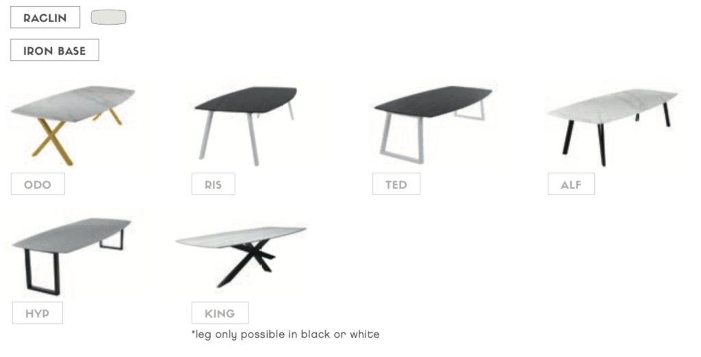 raclin ceramic dining tables