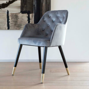 amy customizable tufted dining chair gray