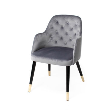 amy gray tufted dining chair