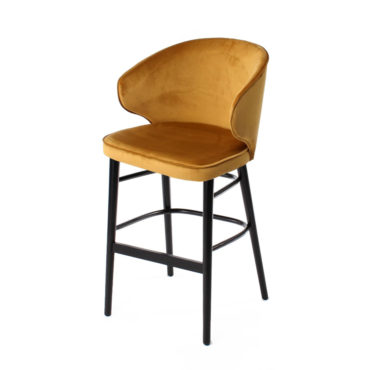 ana upholstered yellow counter chair