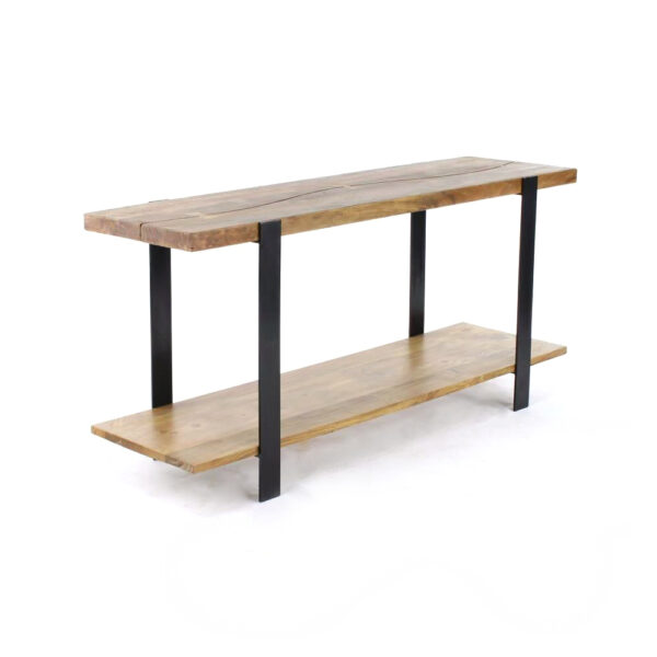 arco wood metal industrial console