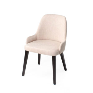 ben cream upholstered low-arm chair
