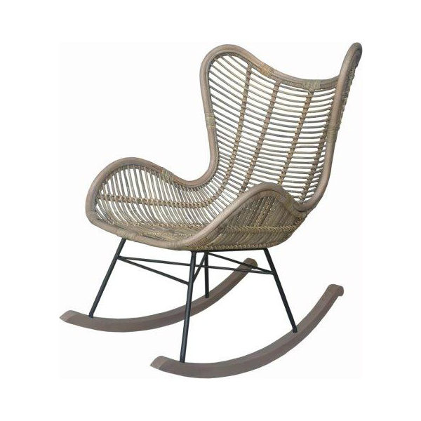 modern wooden rocking chair
