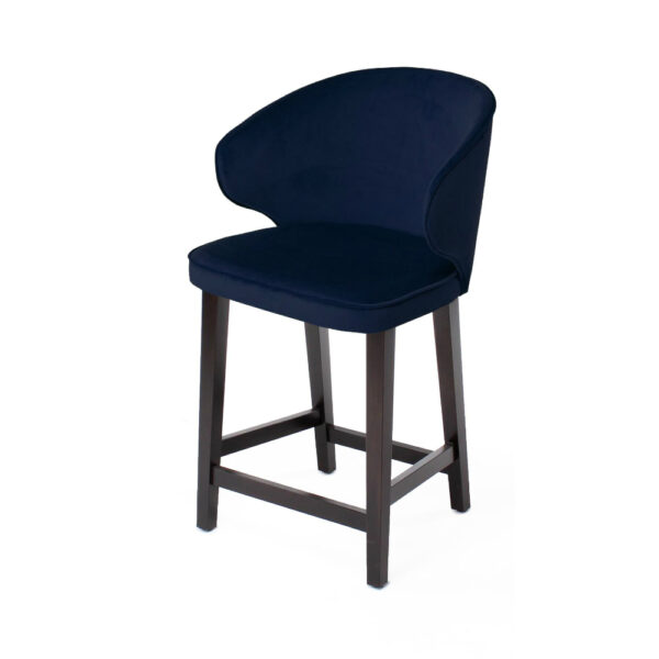 blue upholstered counter chair