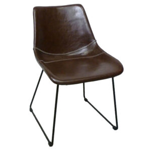 patricia brown leather chair