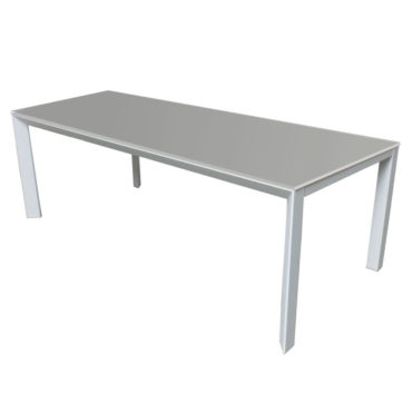 bianca carlo grey glass dining table