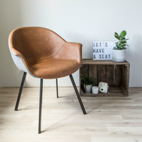 customizable leather bucket seat chair