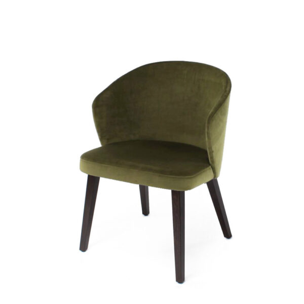 gus upholstered green chair
