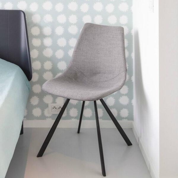 light gray customizable chair