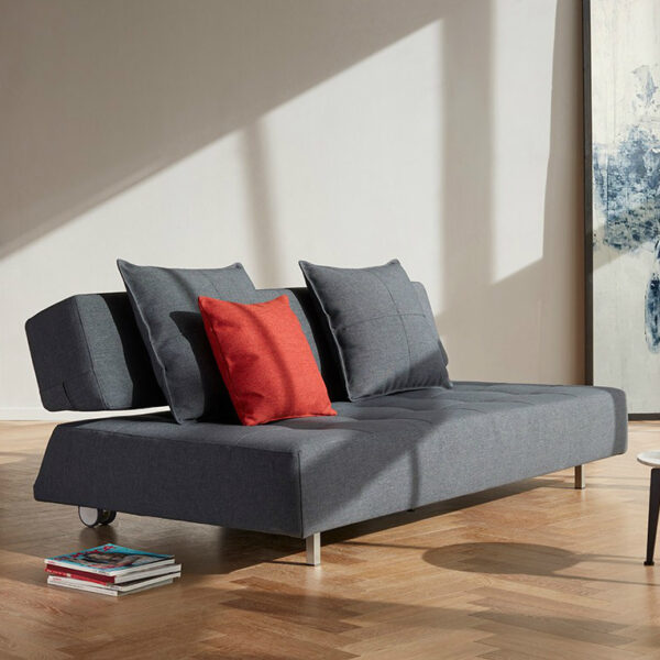 longhorn dark gray armless sofa bed