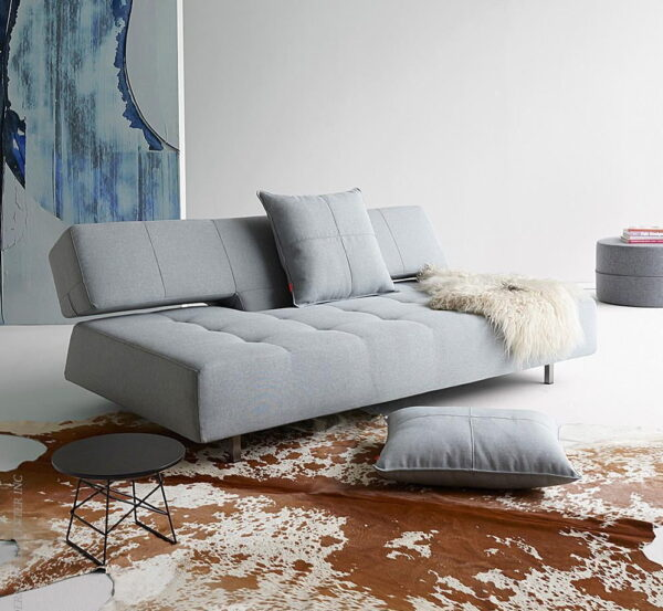 longhorn light gray armless sofa bed