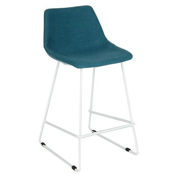 blue metal customizable bar chair