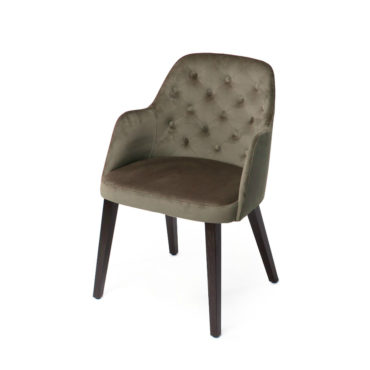 luz brown tufted dining chair