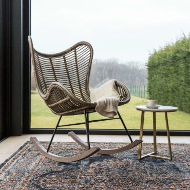 modern rocking chair bergamo