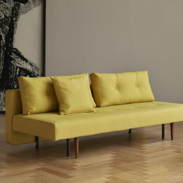 mustard yellow convertible sofa bed