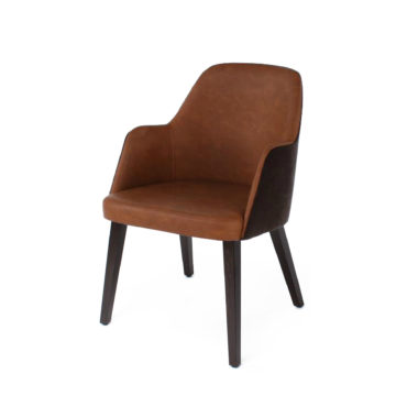 neo dark red dining chair