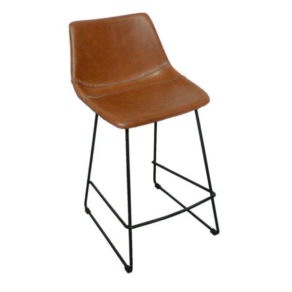patricia ginger faux leather counter chair