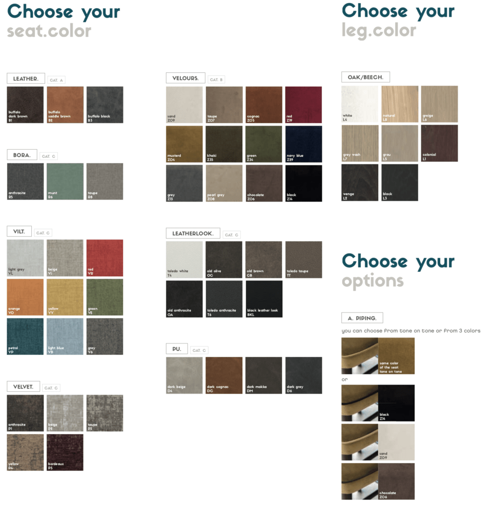 quin customizable chair colors