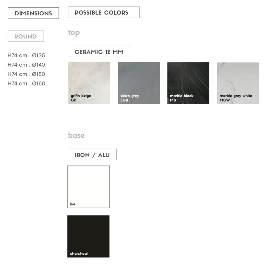 rani table options