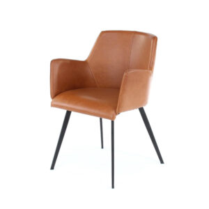 rita ginger brown leather armchair