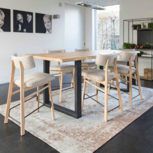 roxy white wood counter chair table