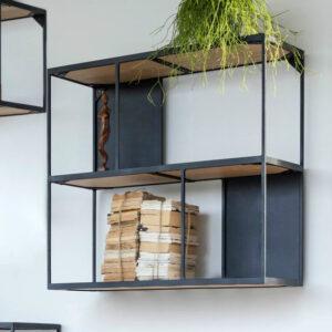 rubic double decker wall shelf